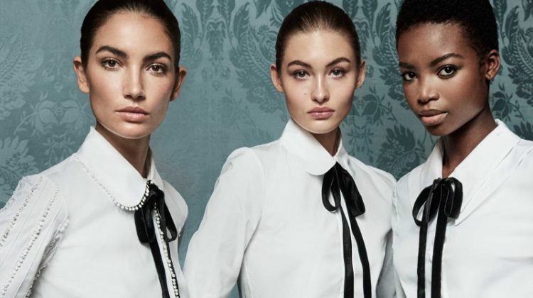 Lily Aldridge, Grace Elizabeth & Maria Borges Are An Elegant Trio in Carolina Herrera's Fall 2017 Ads