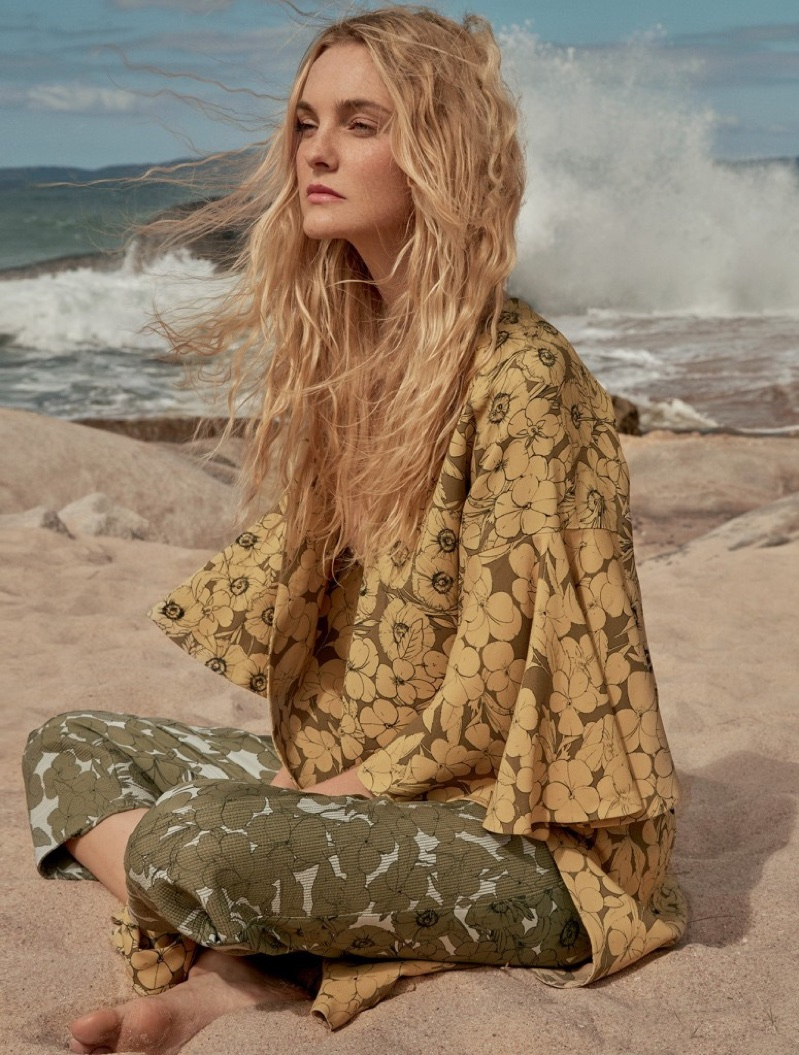caroline trentini poses in summery styles for marie claire
