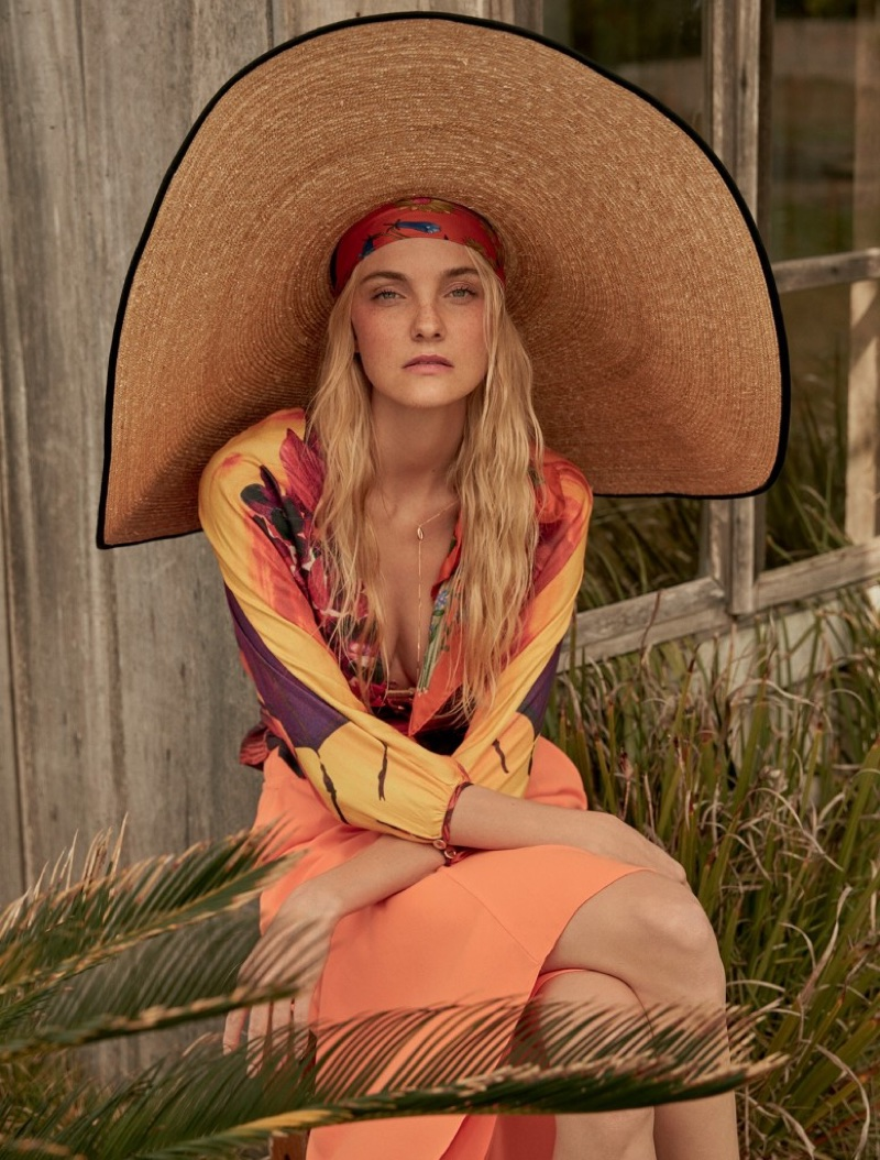 Caroline Trentini Poses in Summery Styles for Marie Claire Brazil