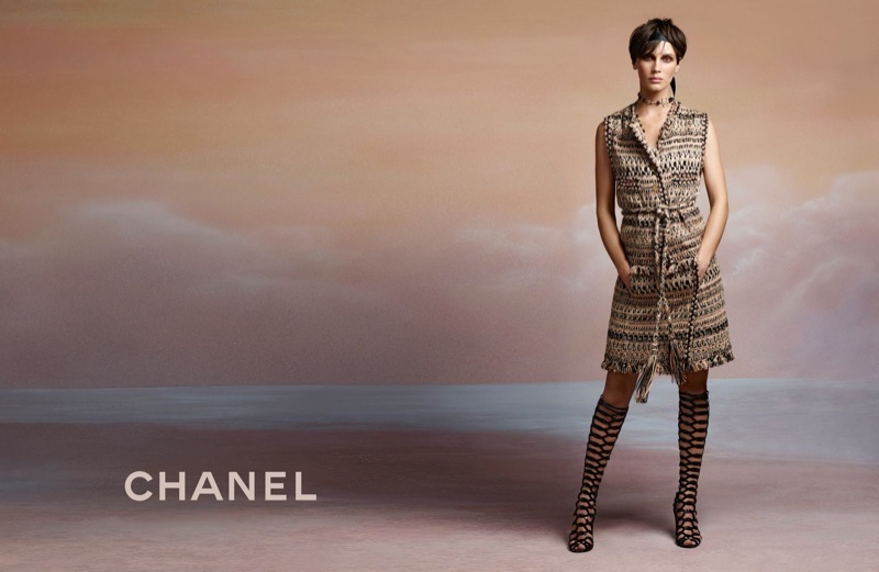 Chanel features tweed in cruise 2018 campaign