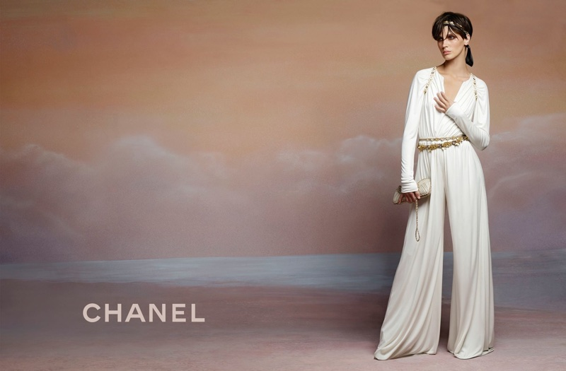 An image from Chanel's cruise 2018 advertising campaign starring Marine Vacth