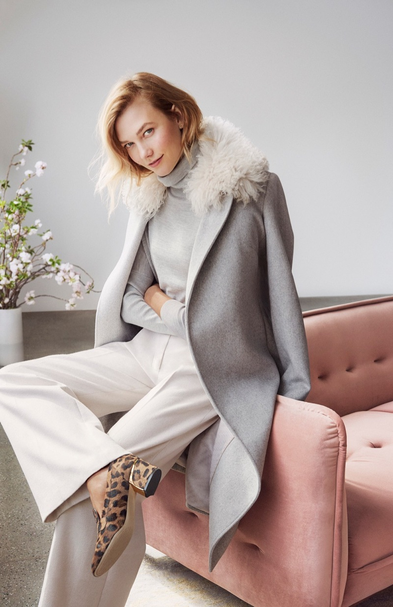 Karlie Kloss layers up for Cole Haan's fall-winter 2017 campaign