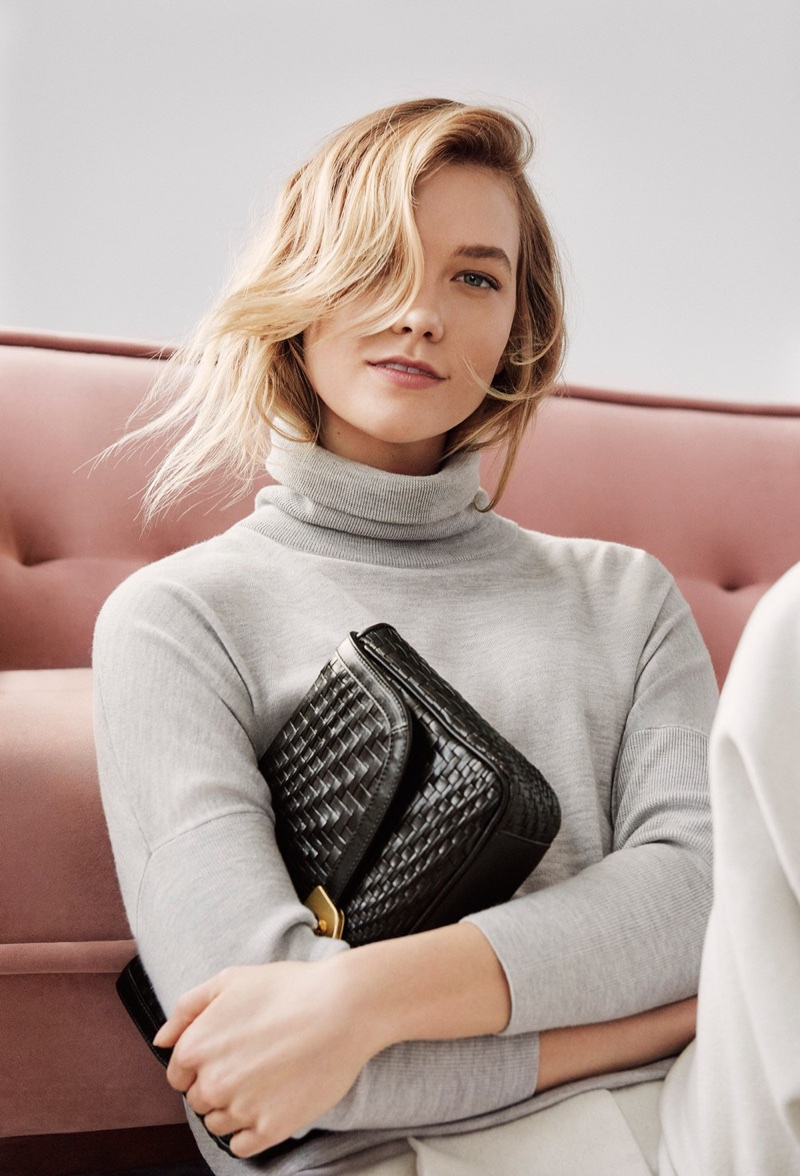 An image from Cole Haan's fall 2017 advertising campaign starring Karlie Kloss