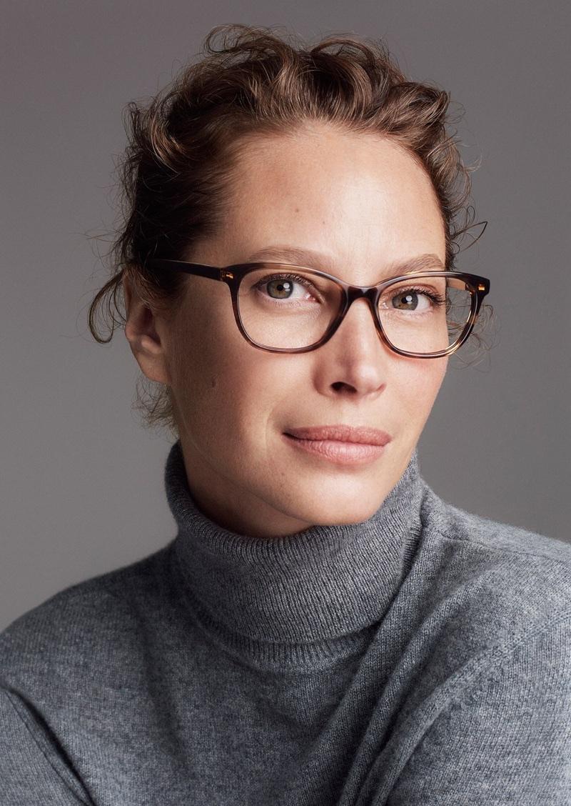 Christy Turlington wears sleek eyewear in Cole Haan's fall-winter 2017 campaign
