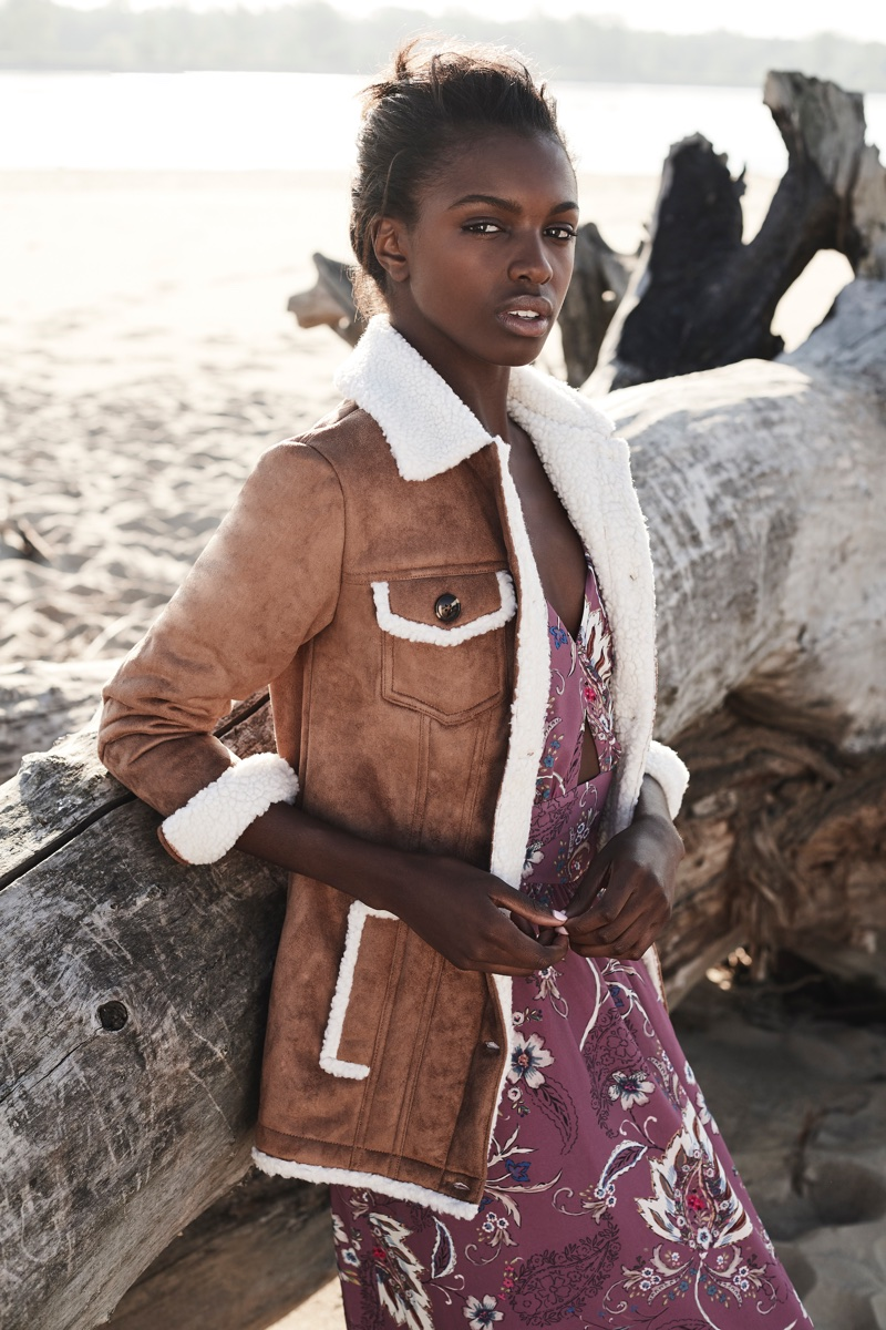 Model Leomie Anderson stars in Curatd x Long Tall Sally's fall-winter 2017 campaign