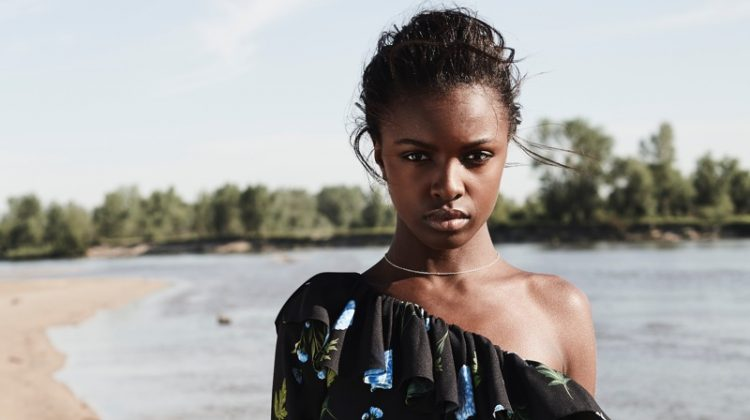 Leomie Anderson stars in Curatd Long Tall Sally's fall-winter 2017 campaign