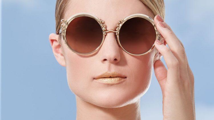 Dolce & Gabbana Round Metal Adorned Sunglasses