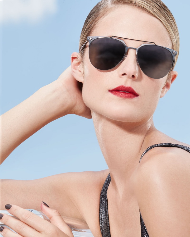 Versace Semi-Rimless Aviator Sunglasses