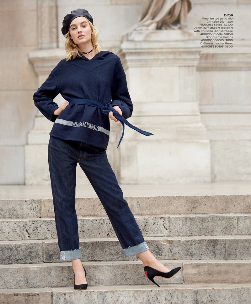 Fifth Avenue Catalog >> Maartje Verhoef Charms In Dior S Fall Looks For Saks Fifth