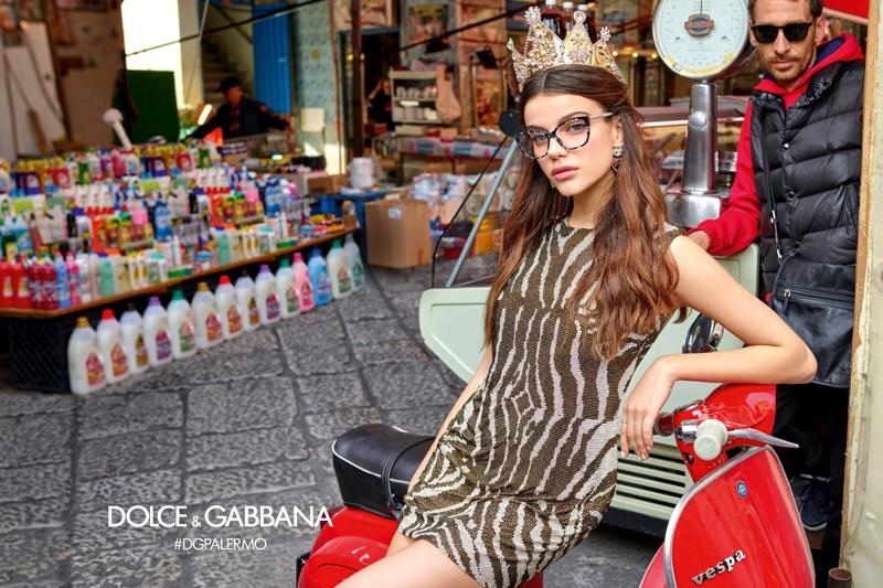 Sonia Ben Ammar stars in Dolce & Gabbana Eyewear's fall-winter 2017 campaign