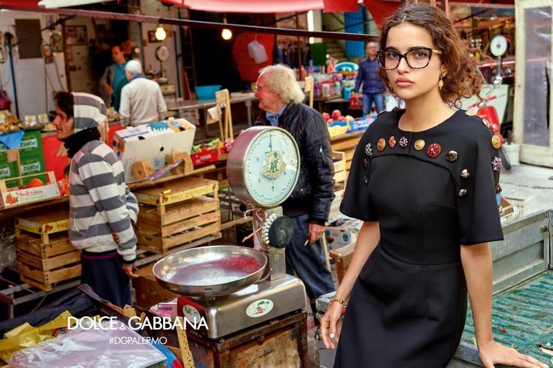 Chiara Scelsi fronts Dolce & Gabbana Eyewear's fall-winter 2017 campaign