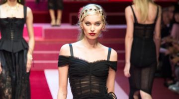 Dolce & Gabbana Showcases Lingerie Inspired Looks for Spring 2018
