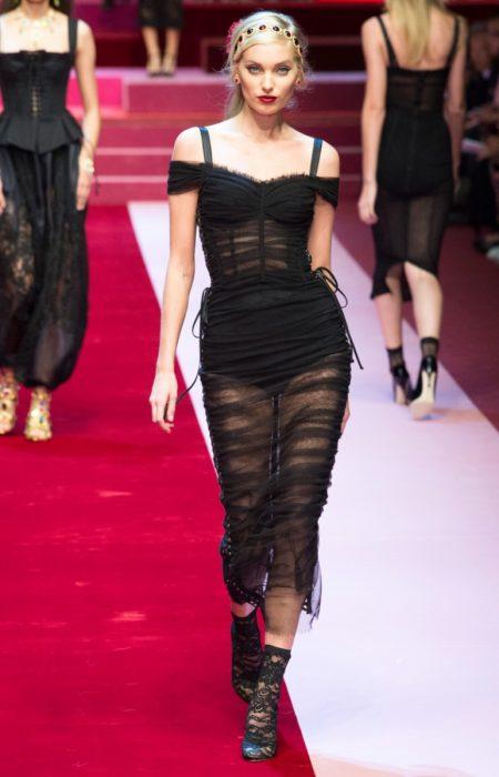 Dolce & Gabbana Showcases Lingerie Inspired Looks for Spring 2018