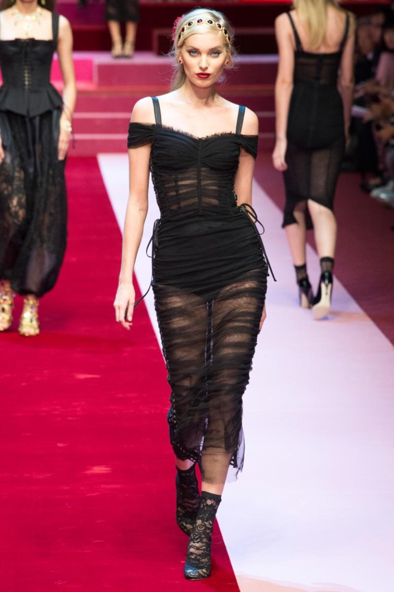 3e9ec00e Dolce & Gabbana Showcases Lingerie Inspired Looks for Spring 2018