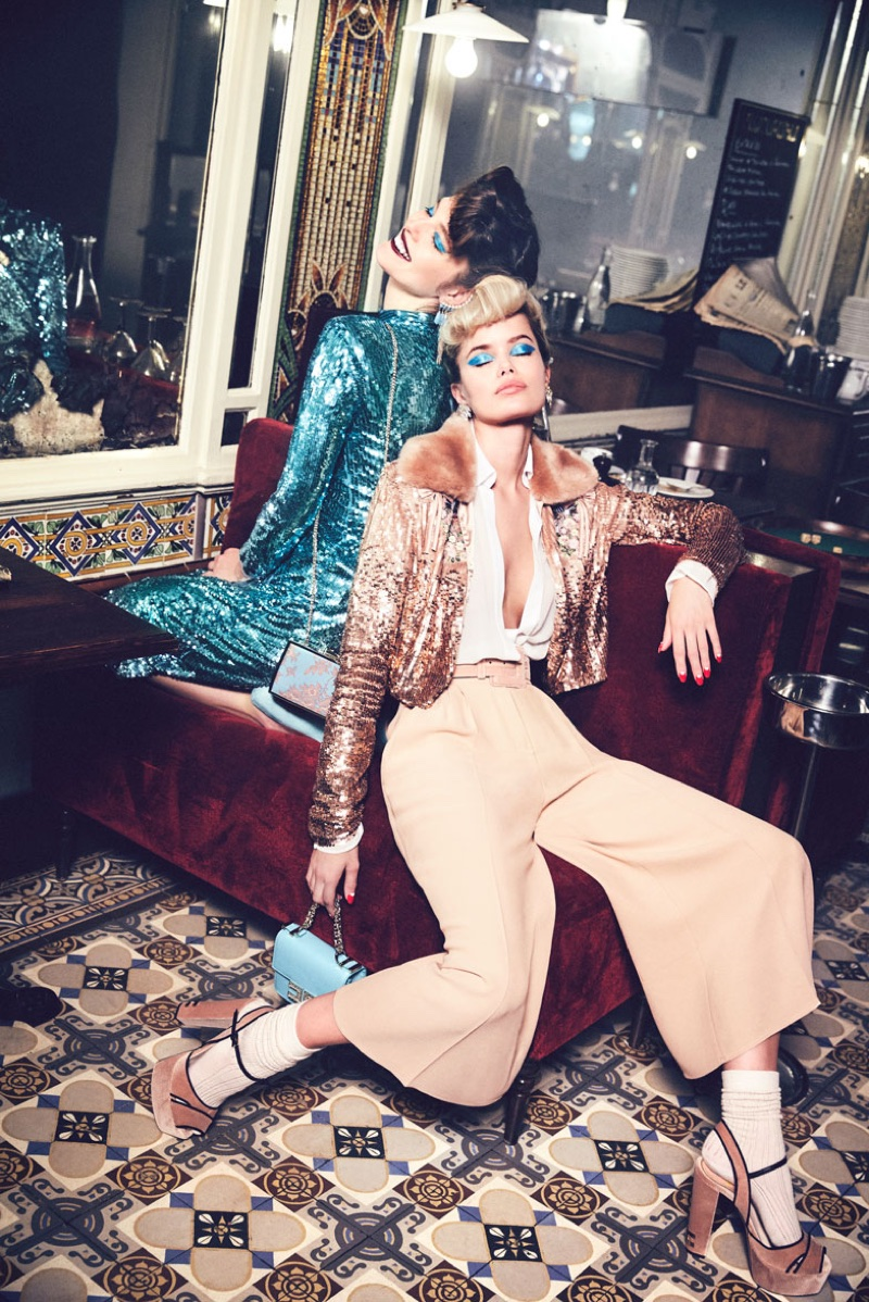 An image from Elisabetta Franchi's fall 2017 advertising campaign