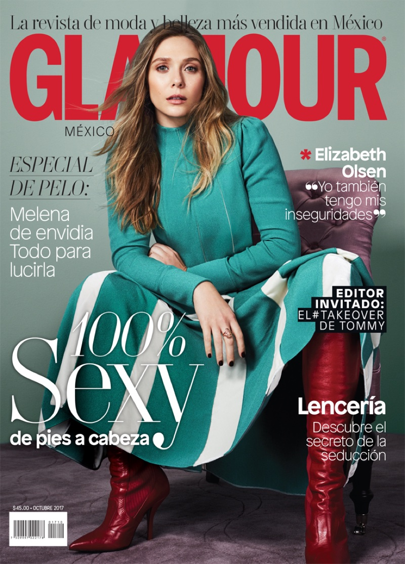 Elizabeth Olsen on Glamour Mexico October 2017 Cover