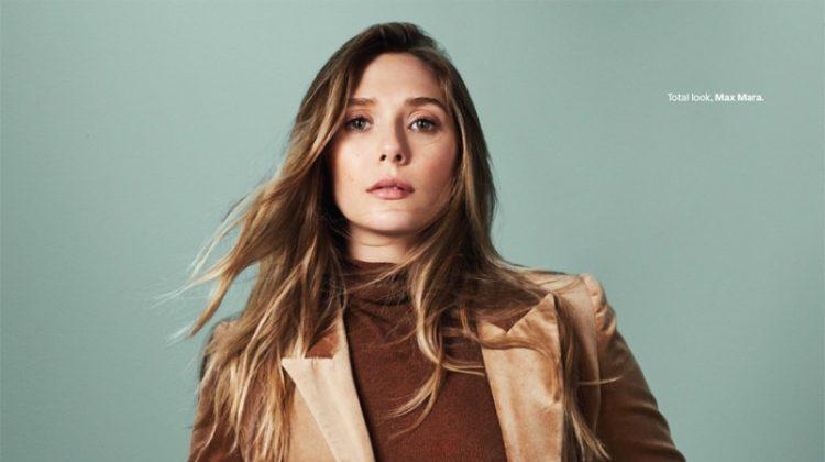 Suiting up, Elizabeth Olsen wears Miu Miu pantsuit