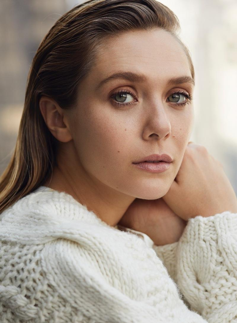 Elizabeth Olsen wears Ulla Johnson sweater