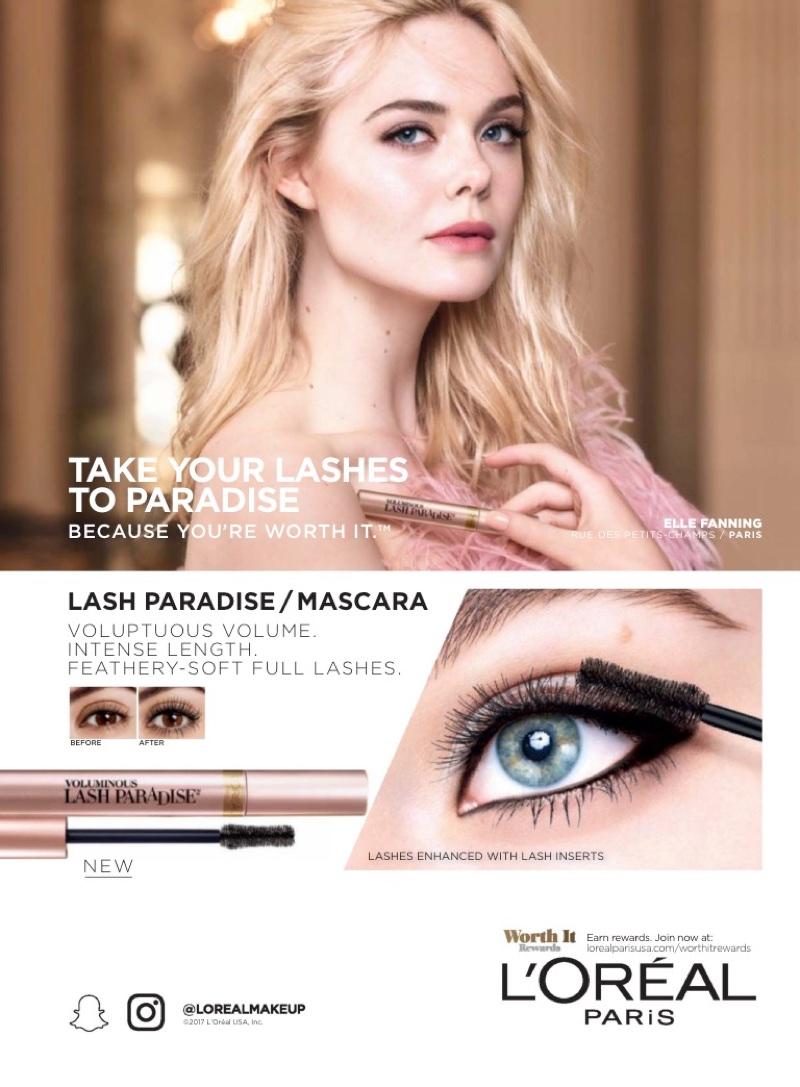 Elle Fanning stars in L'Oreal Paris Lash Paradise / Mascara campaign