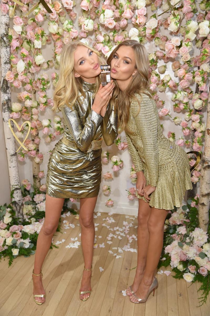 Elsa Hosk and Josephine Skriver at Victoria's Secret LOVE fragrance launch