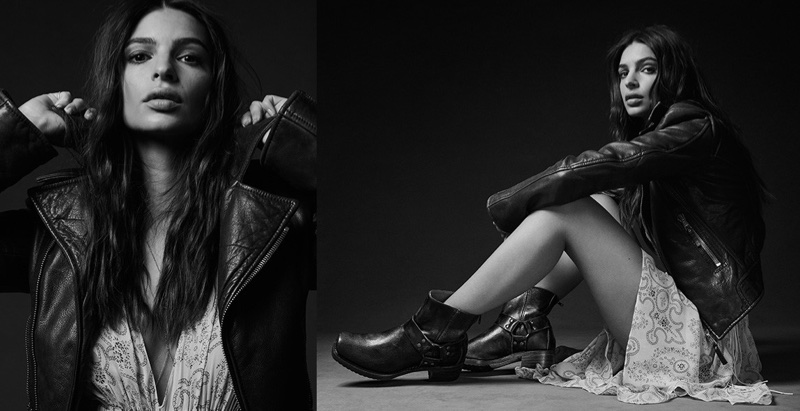 Emily Ratajkowski wears chic boot styles in Frye's fall 2017 campaign