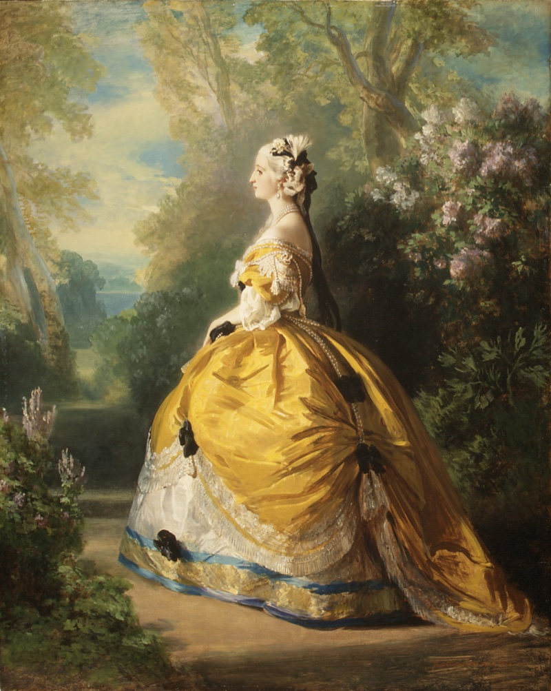Empress Eugénie wearing a Charles Frederick Worth design (1853)