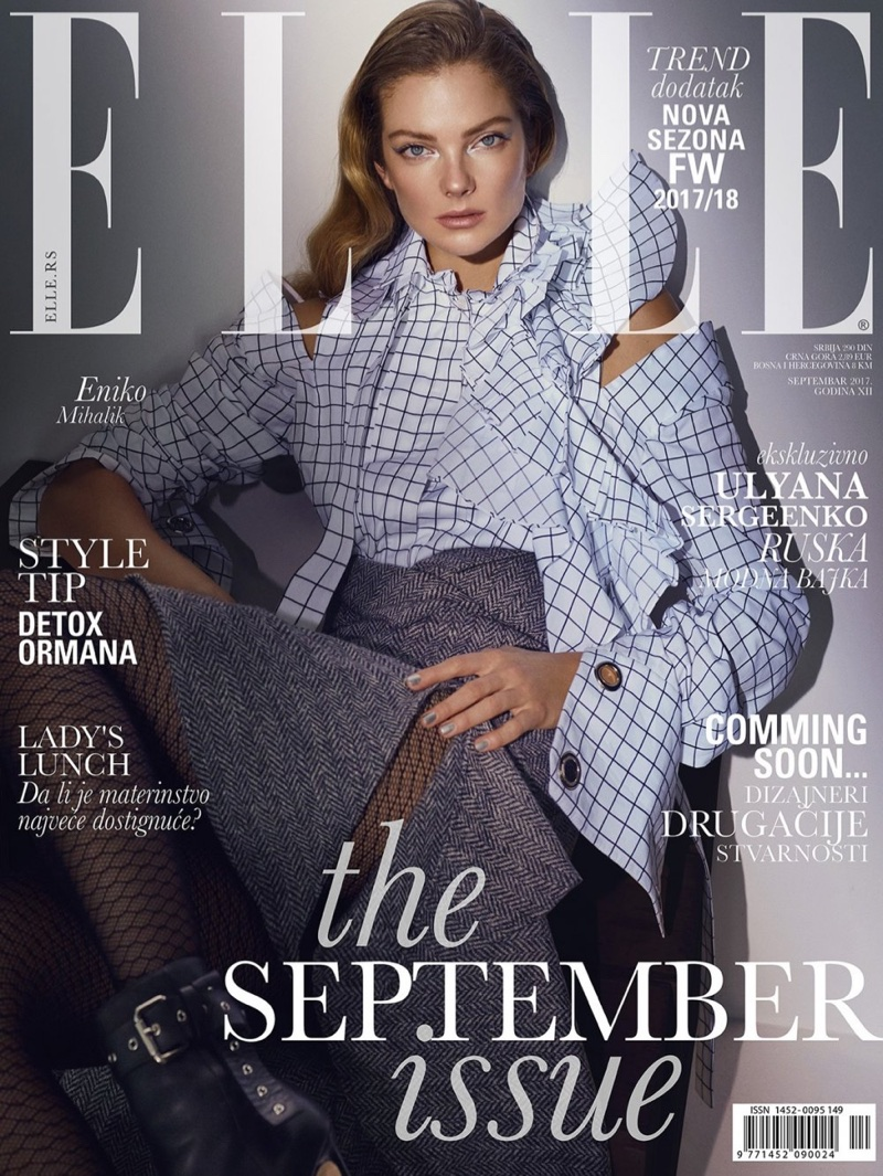 Eniko Mihalik Turns Up the Glam Factor for ELLE Serbia