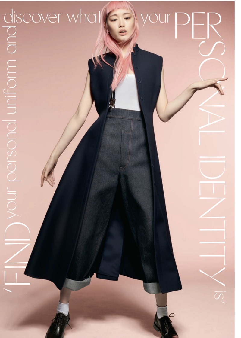 Fernanda Ly Captivates in Dior's Fall Looks for ELLE UK