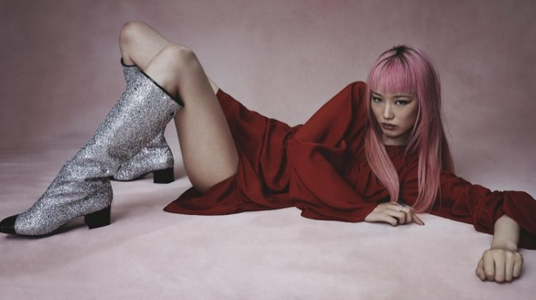 Fernanda Ly Poses in Fashion That Glitters for Vogue Australia