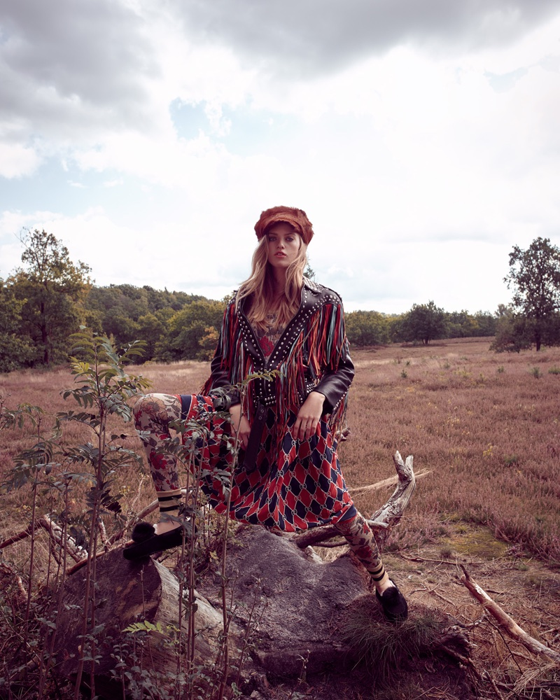 Folke Matthes Models Bohemian Fashion for Grazia Germany