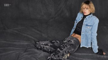Frida Aasen Poses in Casual Denim Styles for ELLE Norway