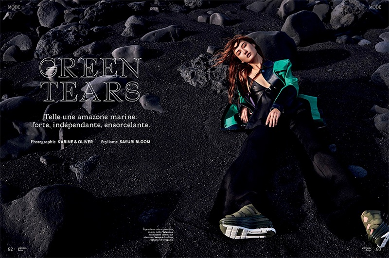 Gia Tang Enchants in Beach Fashions for L'Officiel Switzerland