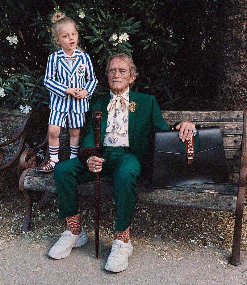 Stefano Torossi and Mose Nozza appear in Gucci's resort 2018 campaign