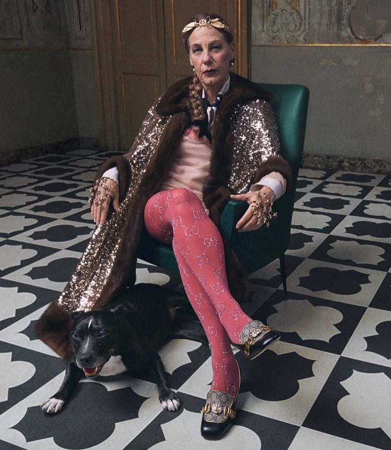 Mick Rock captures Gucci's resort 2018 Roman Rhapsody campaign
