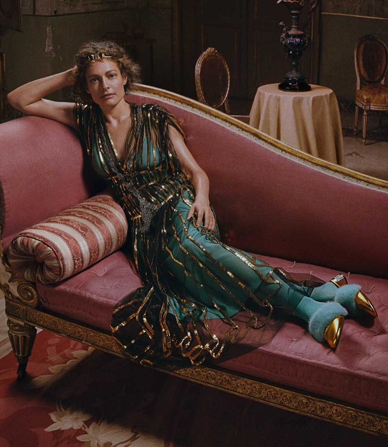 Ginevra Elkann appears in Gucci's resort 2018 campaign