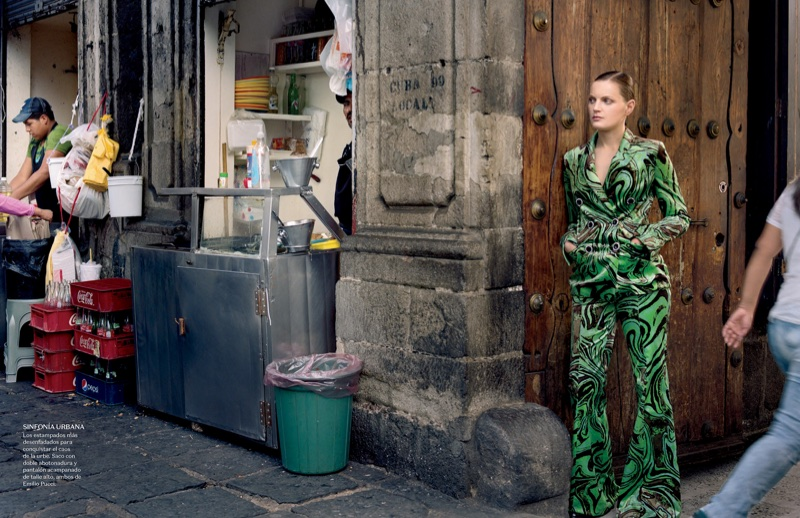 Guinevere Van Seenus Poses in Elegant Fashions for Vogue Mexico
