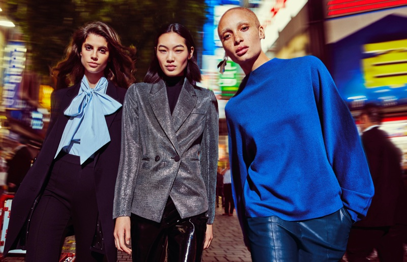 Antonina Petkovic, Chiharu Okunugi and Adwoa Aboah star in H&M's fall 2017 campaign