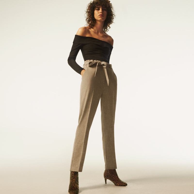 H&M Crêped Off-the-Shoulder Top and Paper-Bag Pants