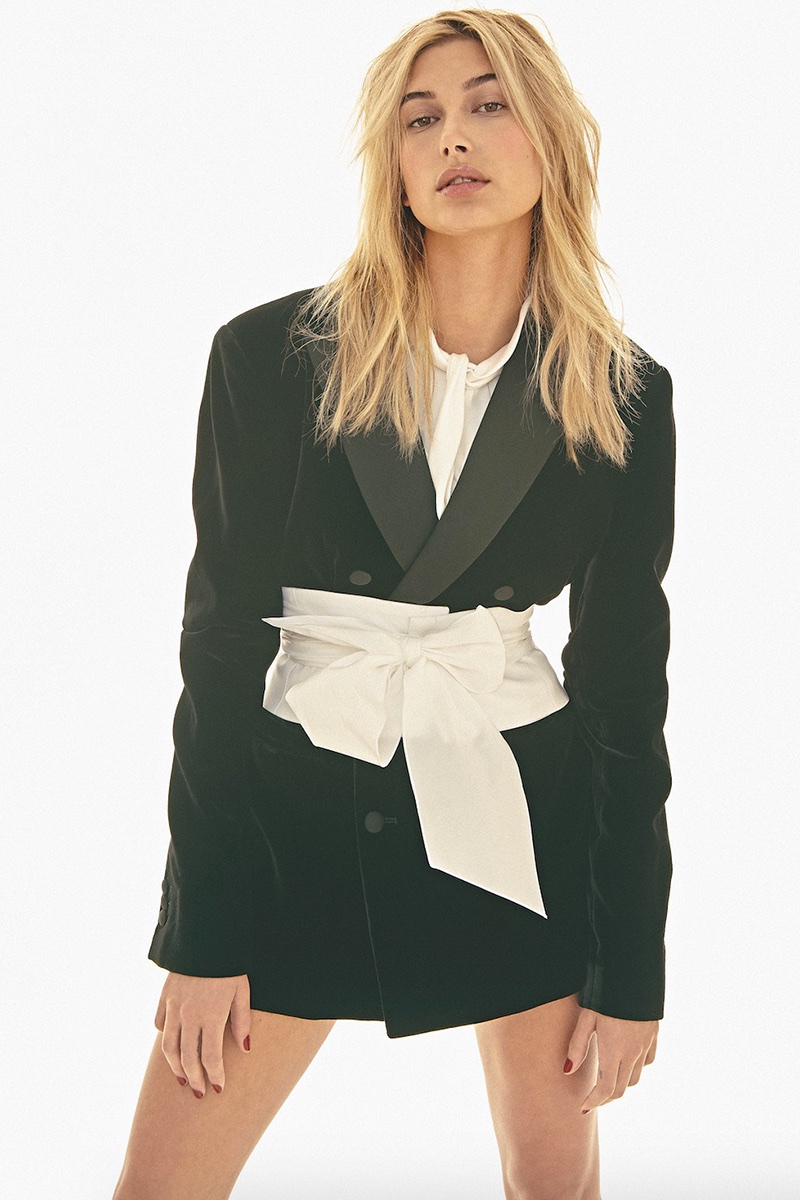 Hailey Baldwin Models Elegant Styles for S Moda