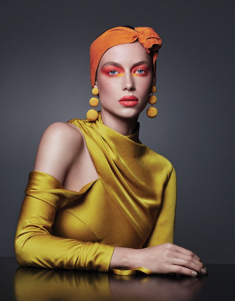 Hannah Ferguson Models Bold Makeup Looks in Vogue Mexico