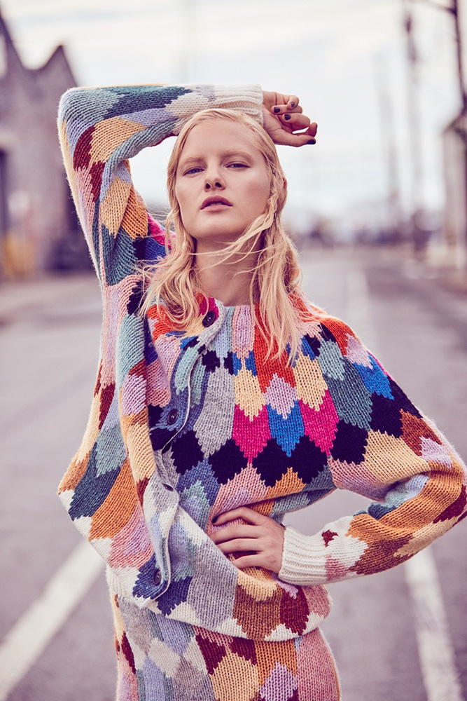 Hannah Holman Poses in Colorful Fall Looks for ELLE Kazakhstan