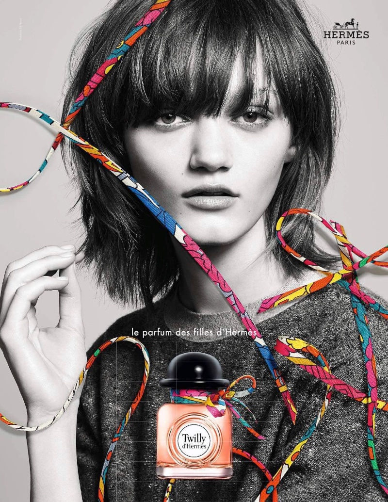Peyton Knight fronts Twilly d'Hermès fragrance campaign