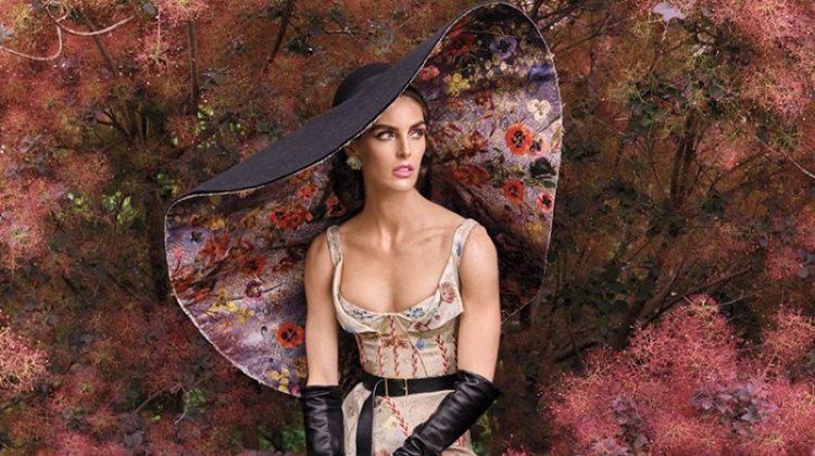 Hilary Rhoda Transforms in Avant Garde Looks for Vogue Arabia