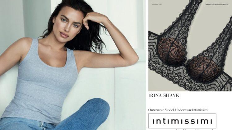 Irina Shayk stars in Intimissimi's #InsideOut campaign