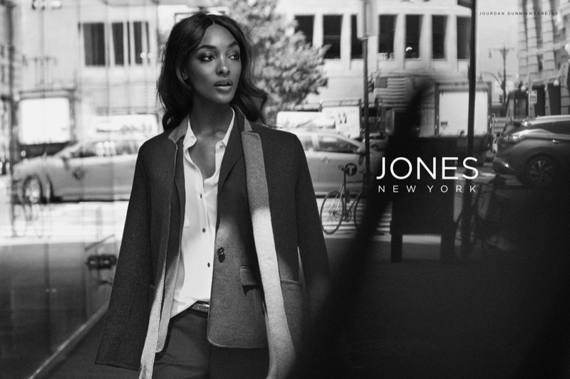 Jourdan Dunn stars in Jones New York fall-winter 2017 campaign