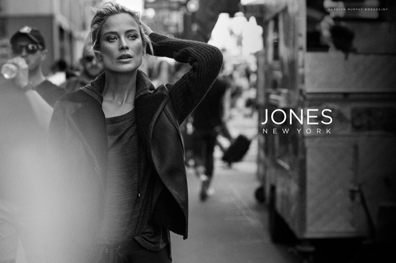 Carolyn Murphy takes to the streets for Jones New York's fall-winter 2017 campaign