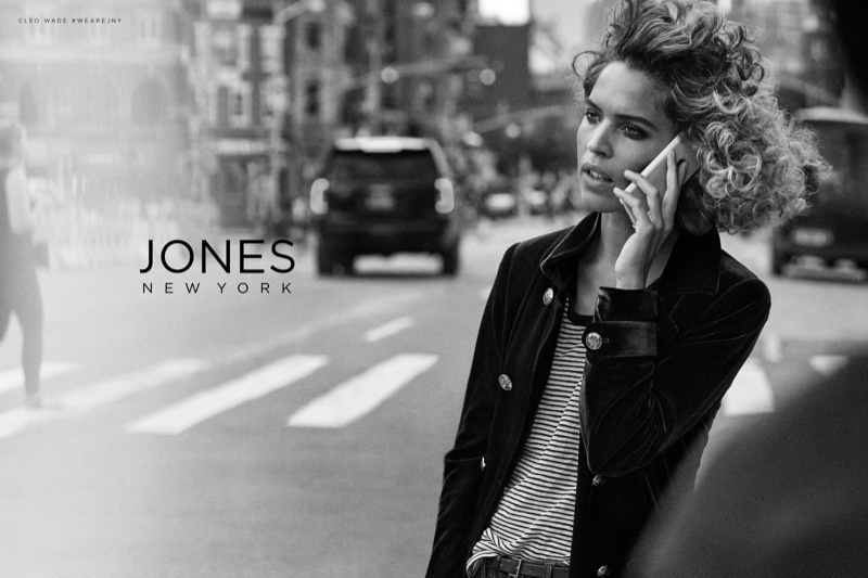 An image from Jones New York's fall 2017 advertising campaign starring Cleo Wade