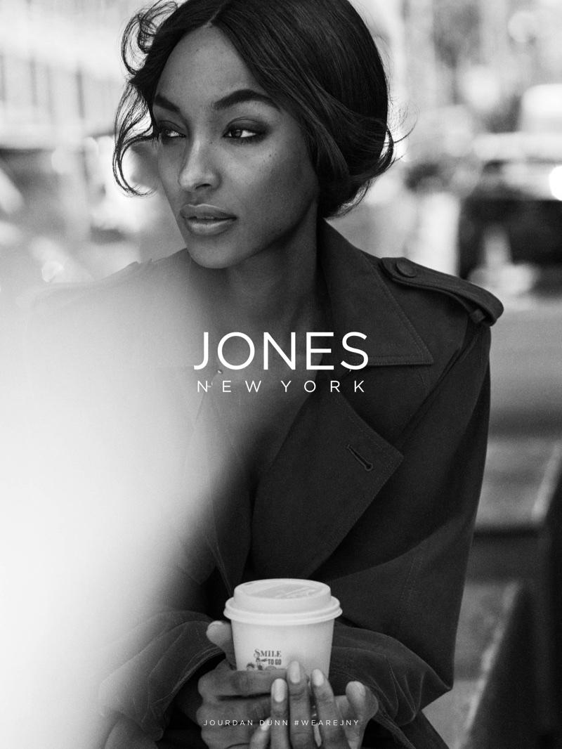 Model Jourdan Dunn fronts Jones New York's fall 2017 advertising campaign