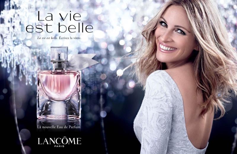 Julia Roberts for Lancome La Vie est Belle fragrance
