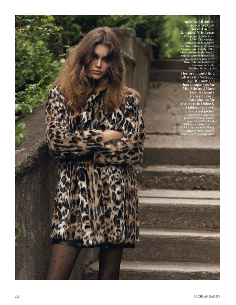 Kaia Gerber Covers Up in Fall Outerwear for Vogue UK